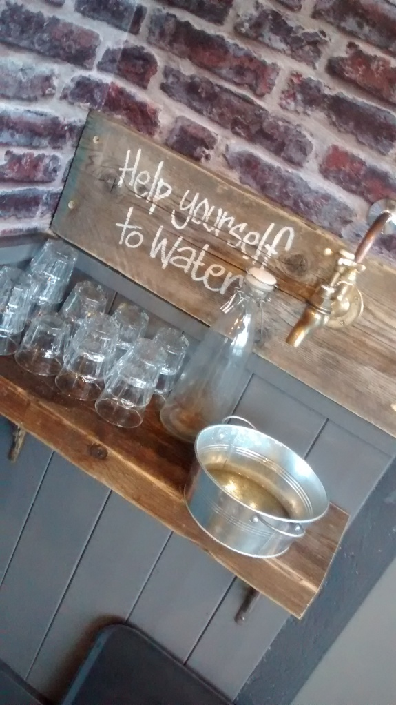 Water tap in a coffee shop